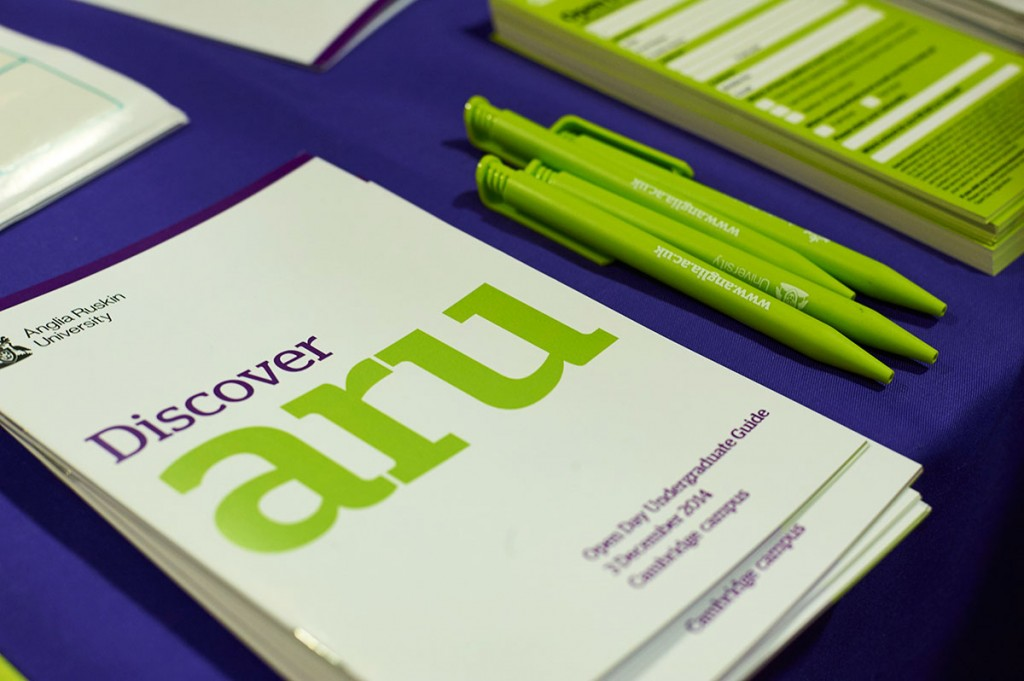 ARU-Open-Day-leaflet-and-pens